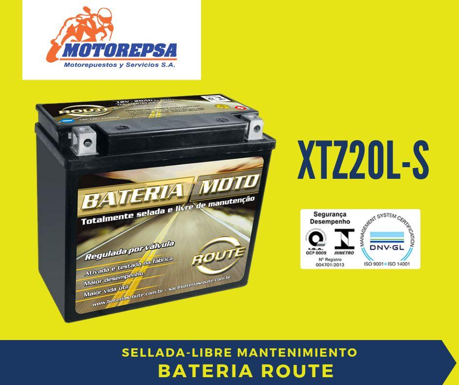 Bateria para MOTO ROUTE XTZ20L S / 12V20Ah