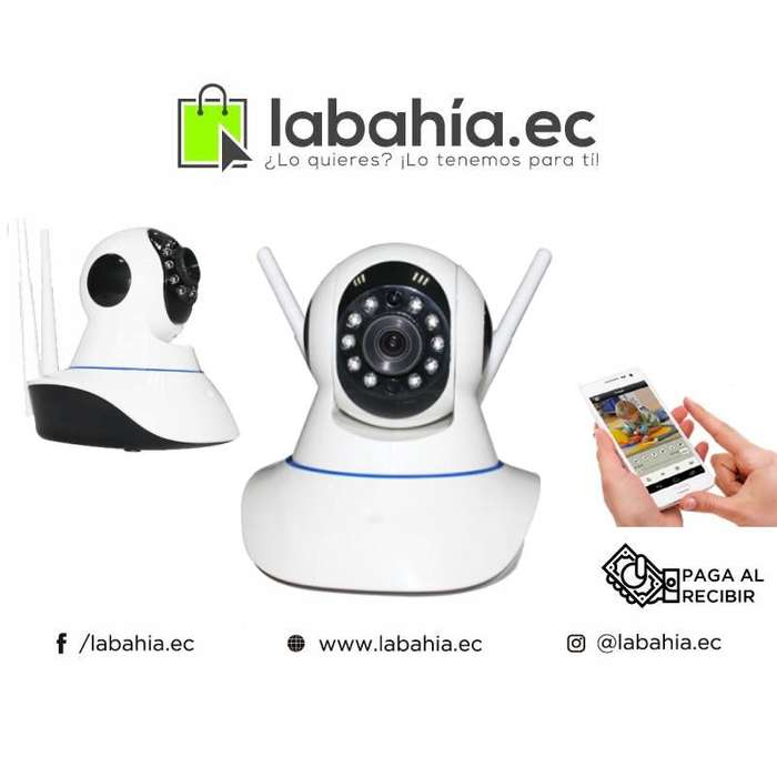 Camara IP Wifi Doble Antena monitoreo 360 grados