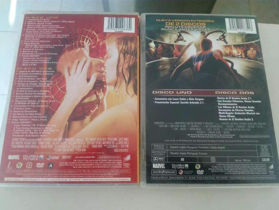 Spiderman 1 Y 2 Dvd