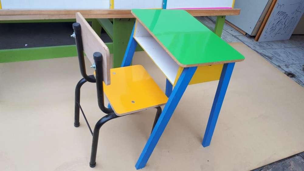 Mesa Infantil Pupitre con <strong>silla</strong>