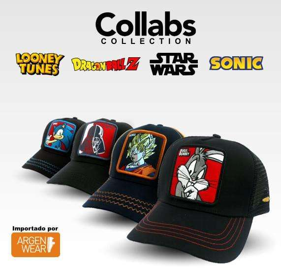 Gorras Collabs looney toons/dragonball z/sonic 20off