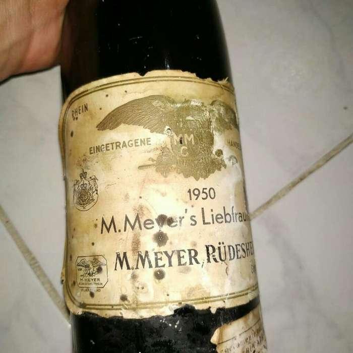 Antigua Botella Coleccion 1950 Decorar