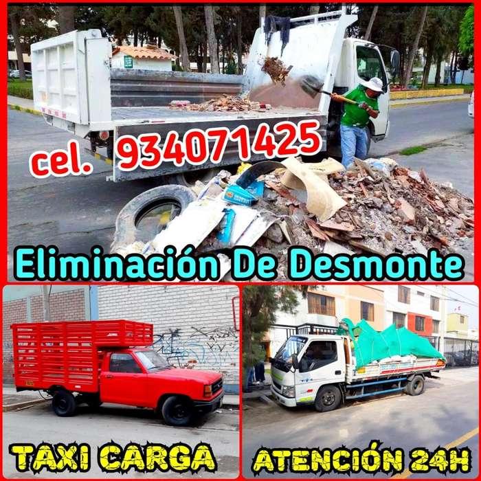 ELIMINACIÓN DE DESMONTE Y RECOJO DE MALEZAS, ESCOMBROS LIMPIEZAS DE ALMACENES, TAXI CARGA Y MUDANZAS LAS 24H