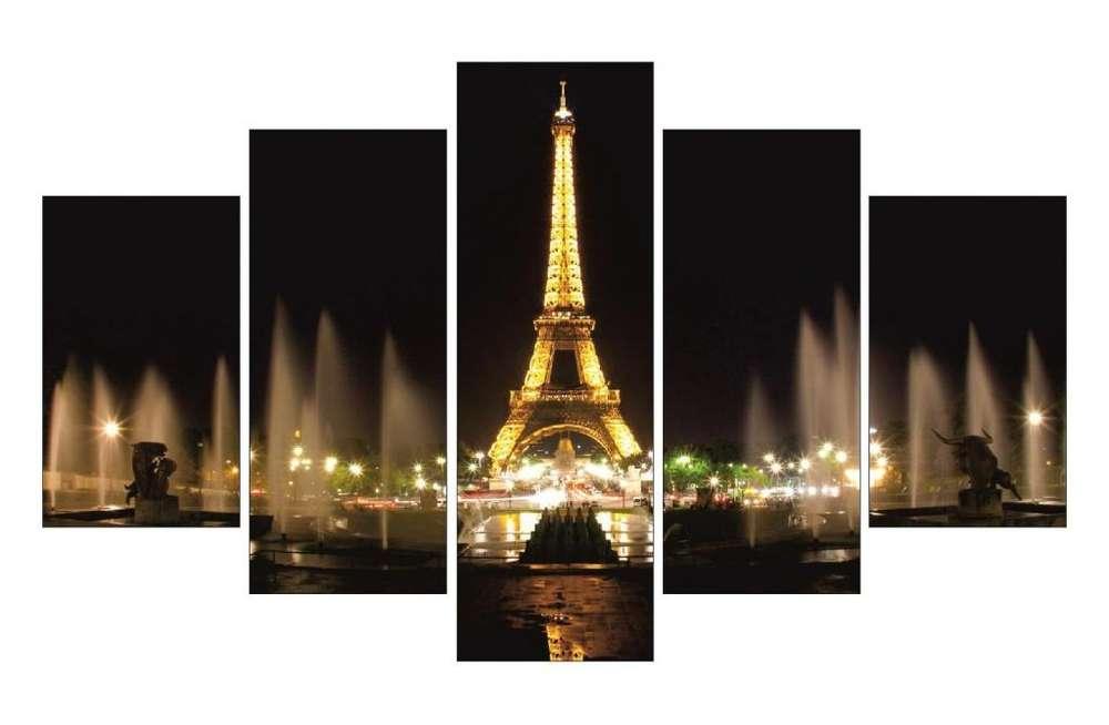 Cuadros decorativos torre Eiffel noche y día