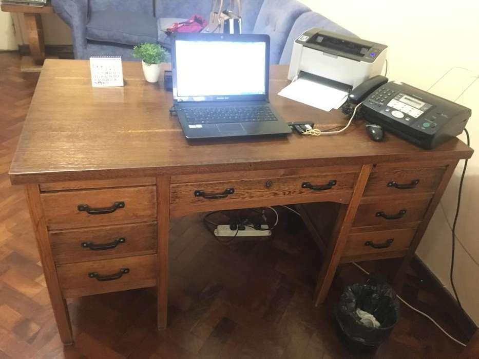 <strong>escritorio</strong> antiguo de roble restaurado