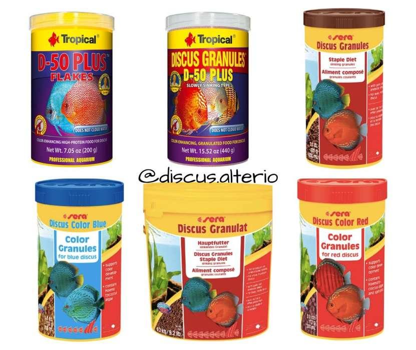Comida para peces disco y ciclidos marca Sera, Tropical, Discusfood, Brightwell Aquatics