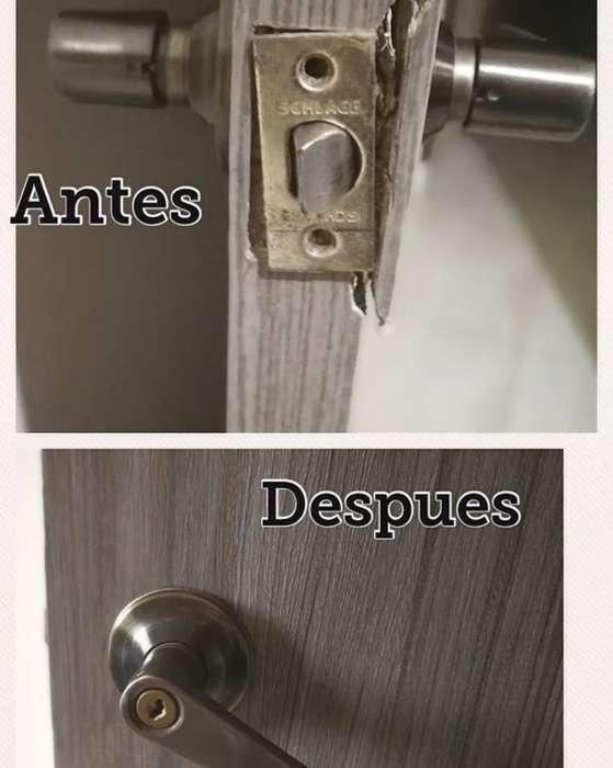 Restauración Reparación arreglos de puertas y closets
