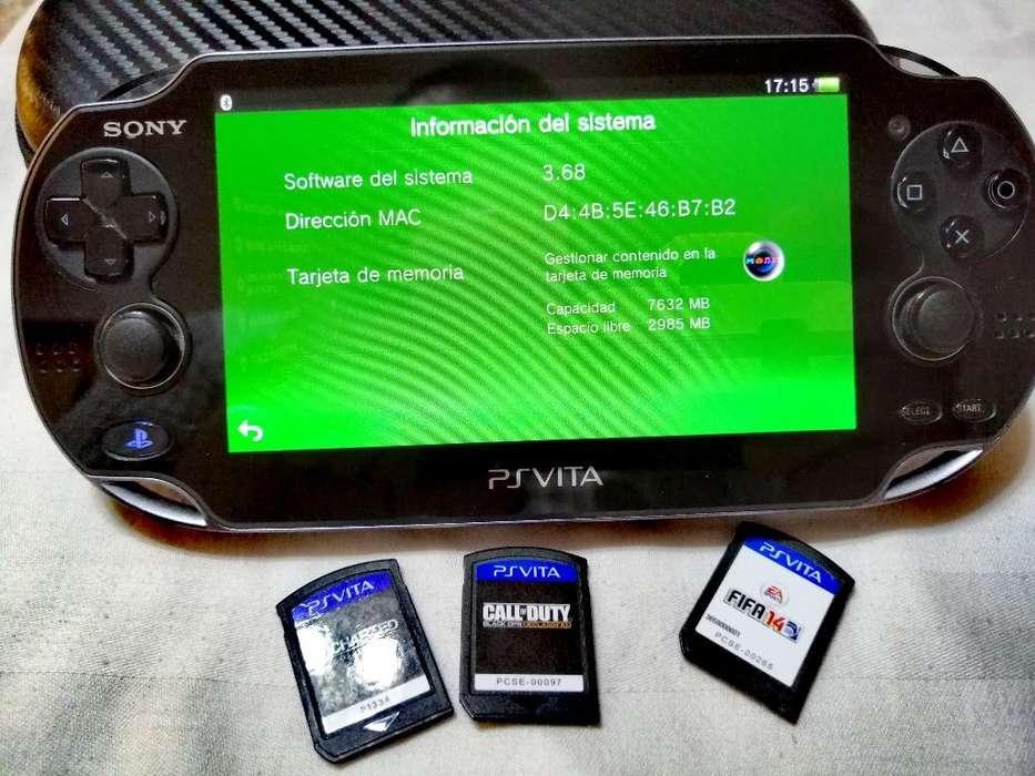 <strong>psp</strong> Vita con Memoria Y 3 Juegos