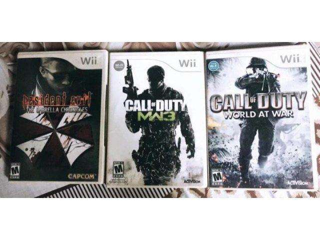 Juegos Wii call of duty y resident Evil