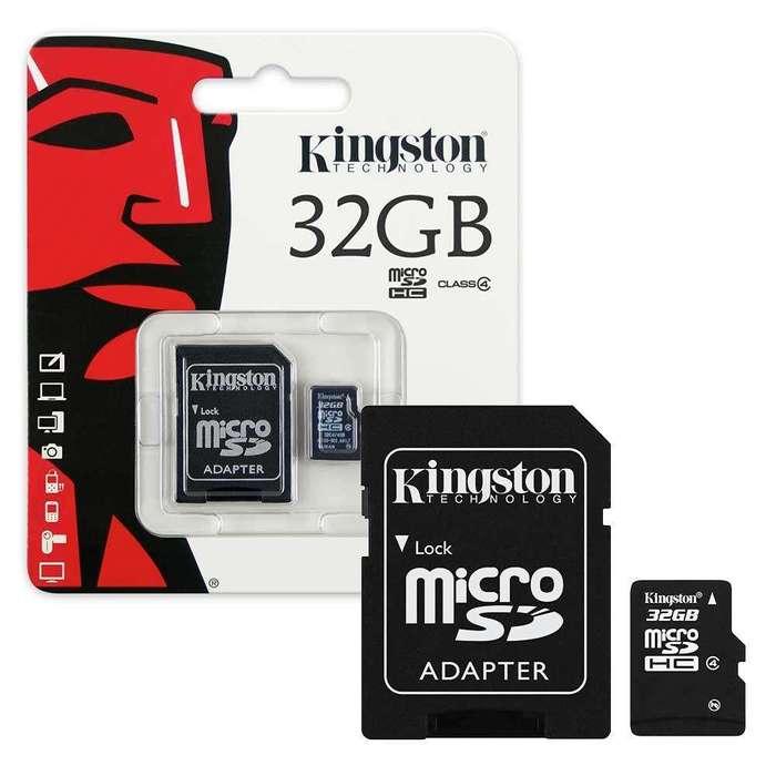 TARJETA MEMORIA DE 8GB 16GB 32GB Y 64GB MARCA KINGSTON