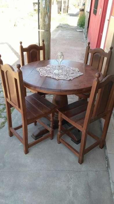 Mesa Y <strong>silla</strong>s de Algarrobo