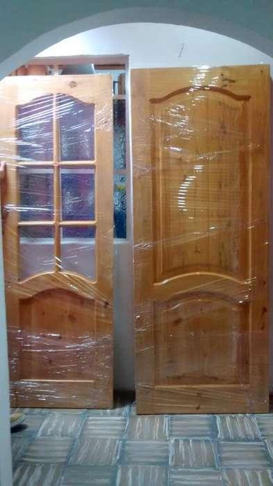 Puertas en pino macizo para baos y cuartos
