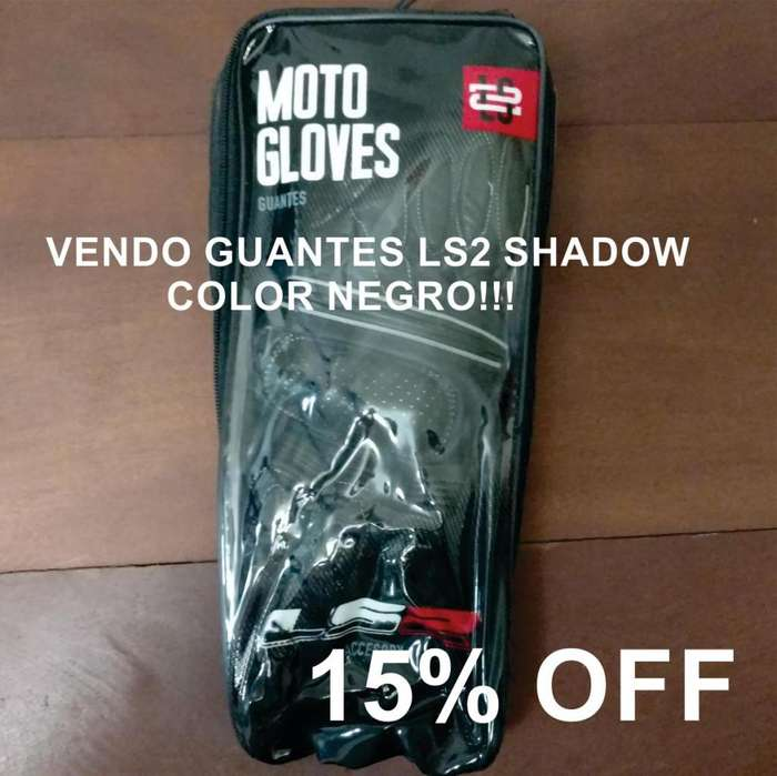 Vendo <strong>guantes</strong> Ls2 Shadow Color Negro!!!