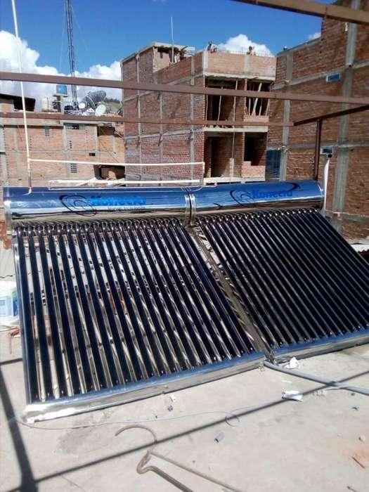 Termas solares duales, agua caliente sanitaria 120 Lts.