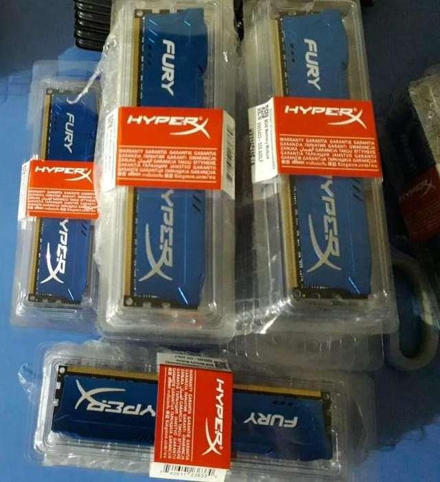 PRECIO DE REMATE <strong>memoria</strong>S NUEVAS DDR3 8GB 1600MHZ FURY !!!