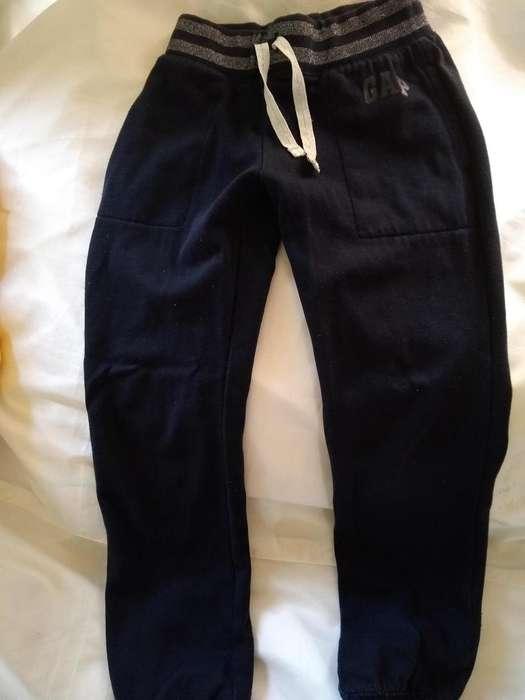 pantalon GAP Talle 67anos negro algodon frisado perfecto