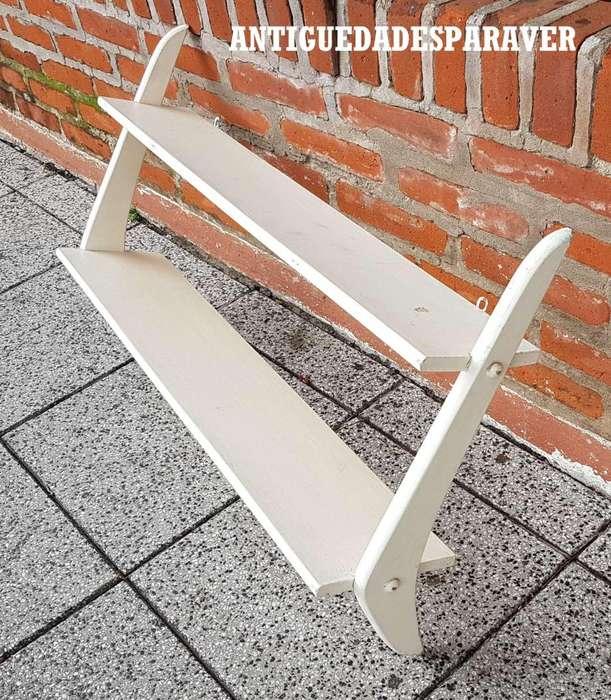 Repisa pequeña Estante Diseño Retro Vintage 60s Hayparaver patinado blanco