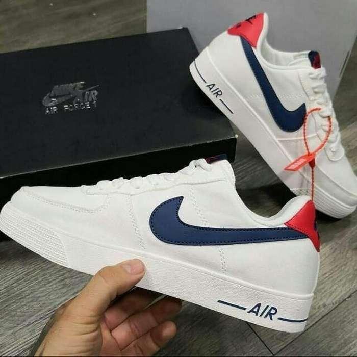 Zapatos Nike Sb Force One Blancos Azul