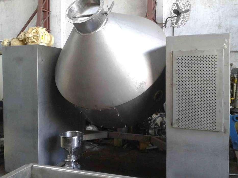 Mezcladora Doble Cono Acero Inoxidable 2000kgs