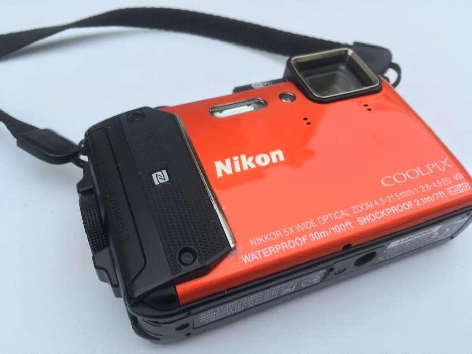 Nikon Coolpix Aw130 Con Accesorios, Excelente Estado!