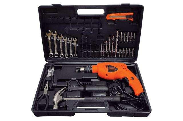 TALADRO PERCUTOR 1/2 550 W Black and Decker 40 <strong>herramienta</strong>s manuales HD565K