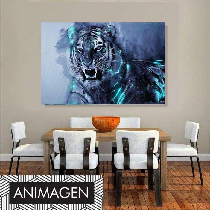 Cuadro decorativo de tigre 4125