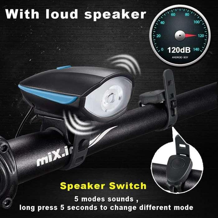 Zatsu Japan 240 lumens Luz Frontal Recargable USB 2.0 para Bicicletas