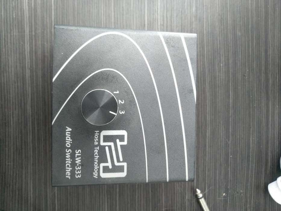 "Switch pasivo de Audio Hosa SLW-333 – 1/4"" TRS in to 3x 1/4"