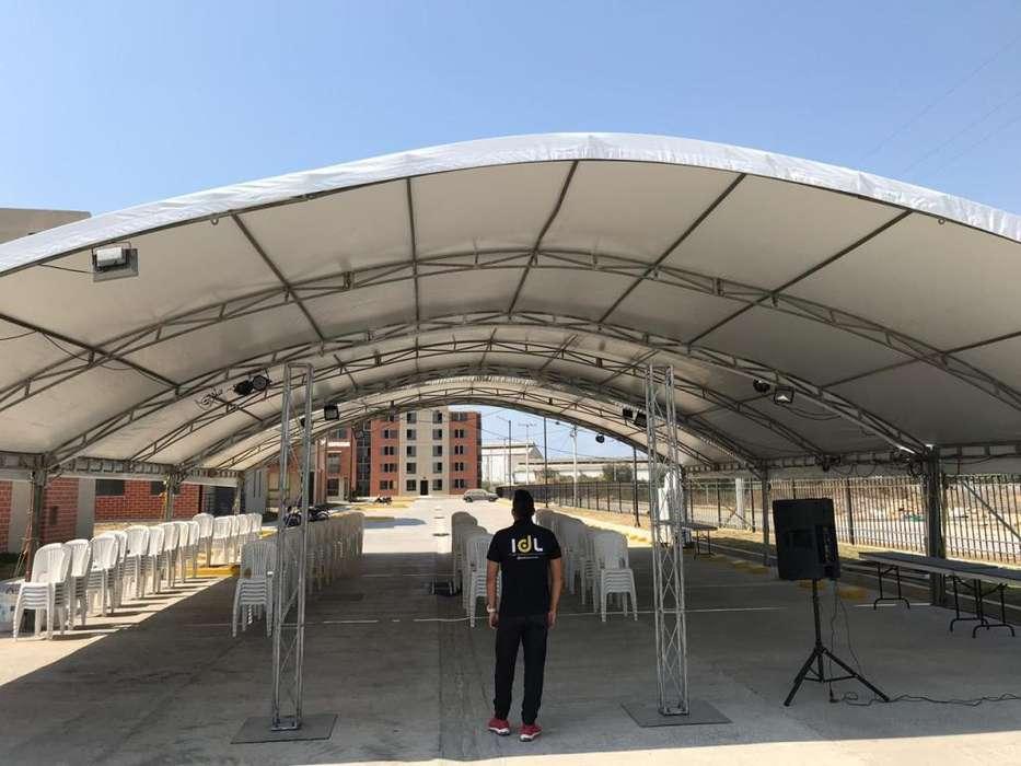 Alquiler de carpas tipo hangar en Barranquilla