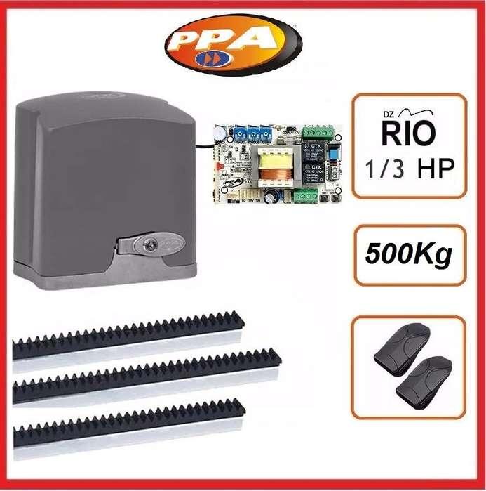 Kit Motor Corredizo Ppa Portón Hasta 500kg Dz Rio 1/3 Hp