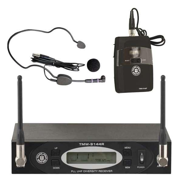 memoelectronics: microfono de diadema uhf tmw9144r toppro nuevo