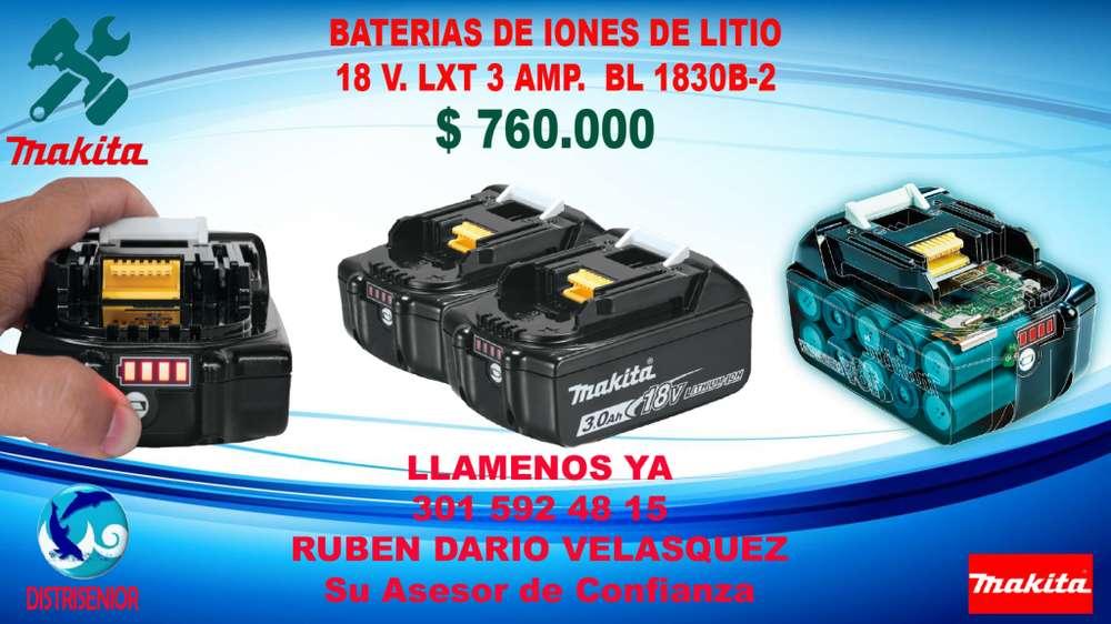 Batería LXT Litio?Ion de 18V 3.0 Ah, Paq. c/2 LB18302