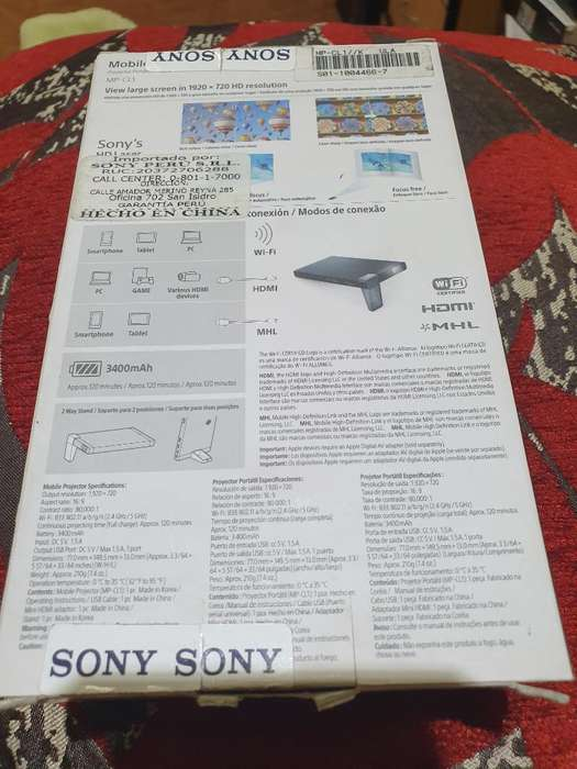 Mimiproyector Laser.sony
