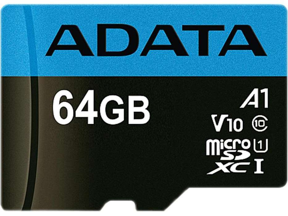 Memoria Microsdxc Uhs-i 64 Gb Adata V10 Clase10 A1