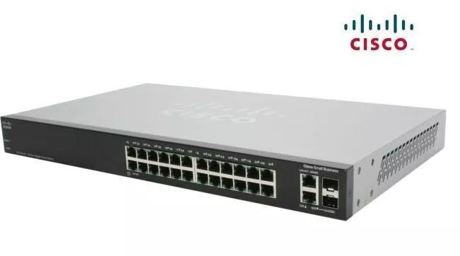 SWITCH CISCO SMB SLM2024T/NA ADMINISTRABLE L2 DE 24 PUERTOS GIGABIT 10/100/1000 MAS 2 PUERTOS GIGABIT O SFP RACKEABLE