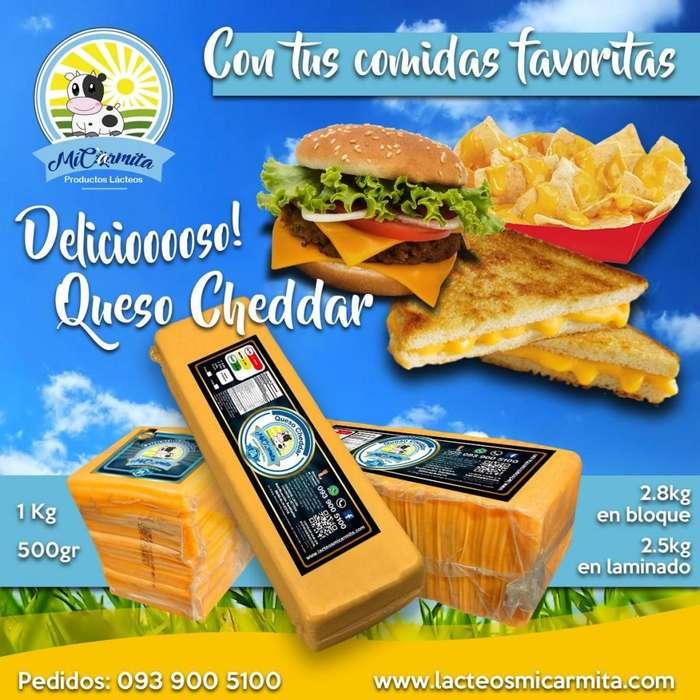 Queso Cheddar Americano original entrega Domicilio Quito, Envio Provincias