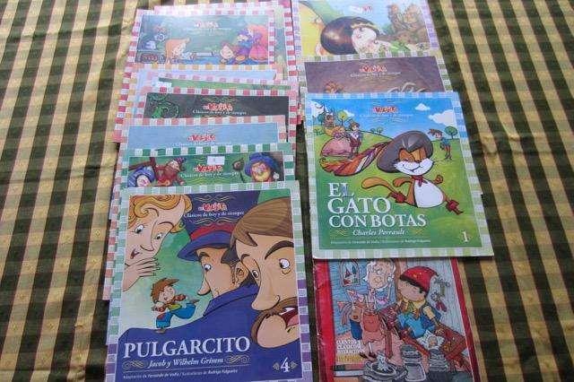 Lote de 11 libros de cuentos clásicos infantiles de LA VALIJITA, impecable estado!!!