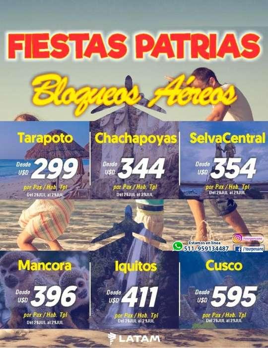 Fiestas Patrias 2019 viajes económicos en Perú para Peruanos