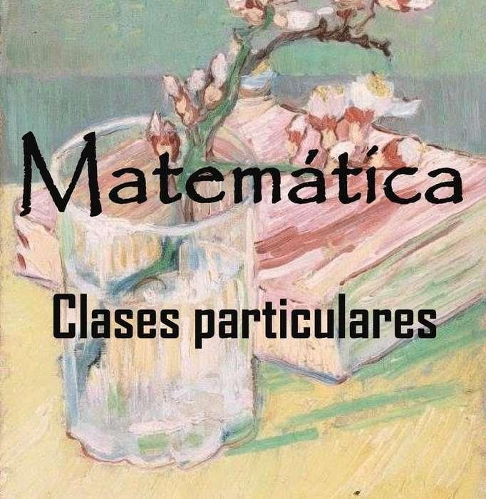 Clases particulares de Matemática, a domicilio