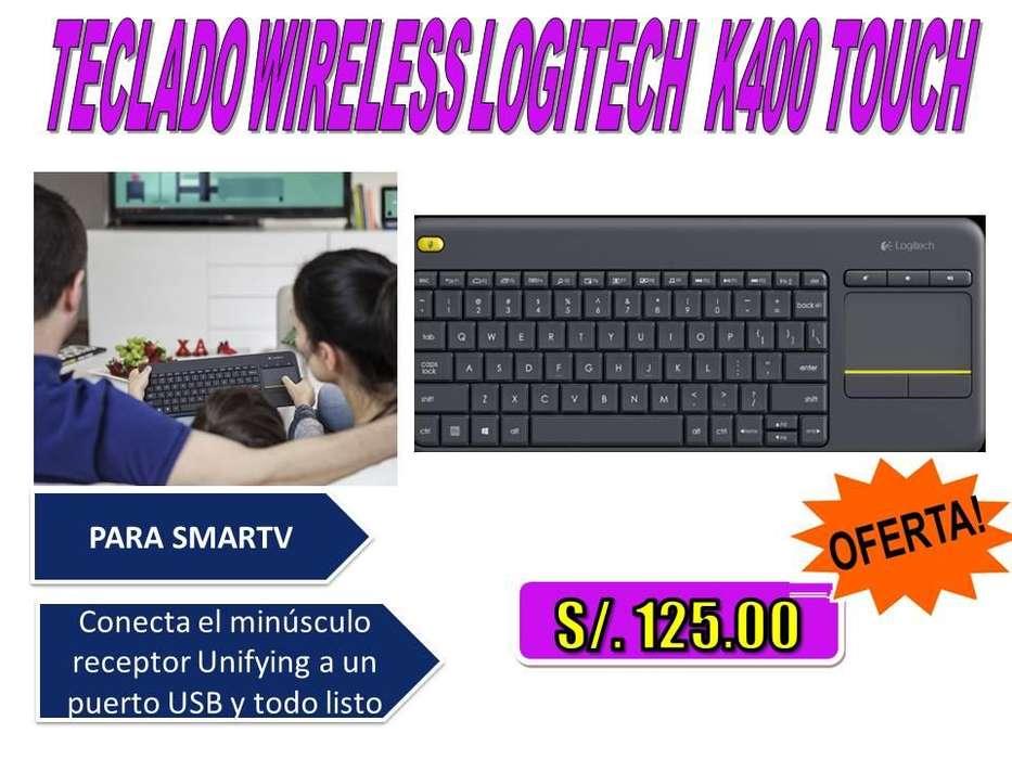<strong>teclado</strong> WIRELESS LOGITECH K400 TOUCH