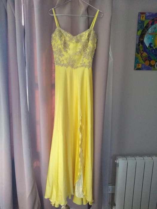 Vestido amarillo de fiesta