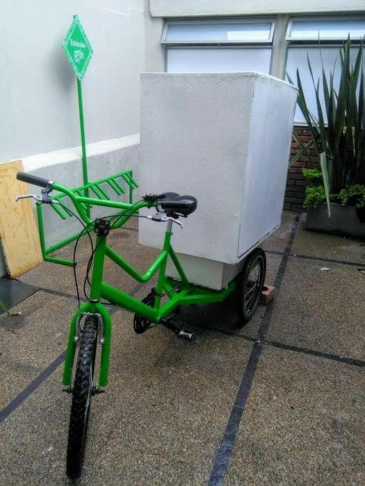 Triciclo para ventas o transporte de carga
