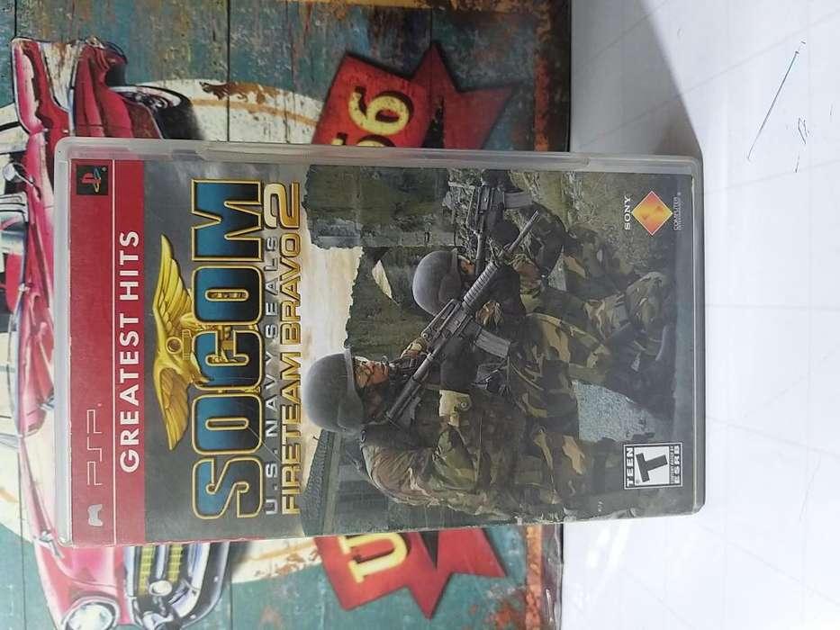 Video Juego Original para Consola Psp Socom U.S Navy Seals Fireteam Bravo 2 Usado