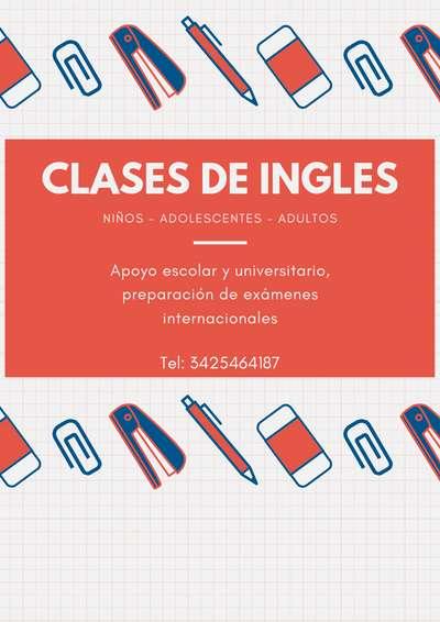 Clases Particulares de Ingles - Santa Fe