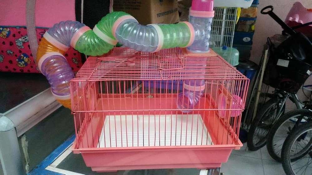 jaula para hamster mediana