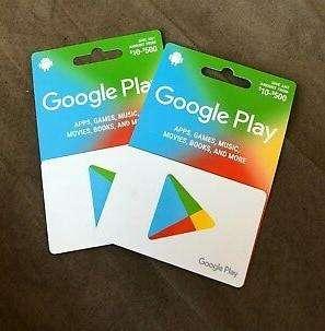 Tarjetas de Google Play