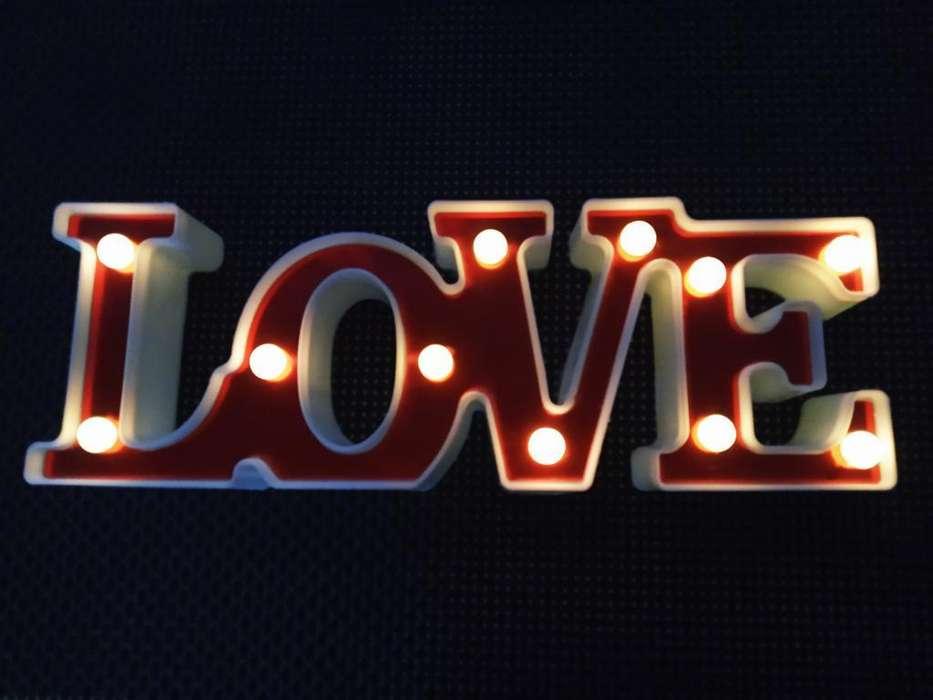 Lampara Velador Luz Led Deco Love Belgr.