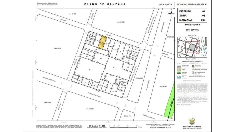 Santiago Del Estero 243 - UD 390.000 - Terreno en Venta