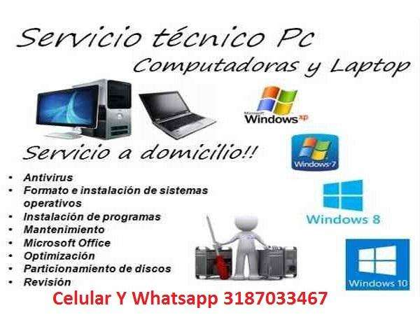 REPARACION MANTENIMIENTO COMPUTADORES Y LAPTOP SERVICIO TECNICO DOMICILIO