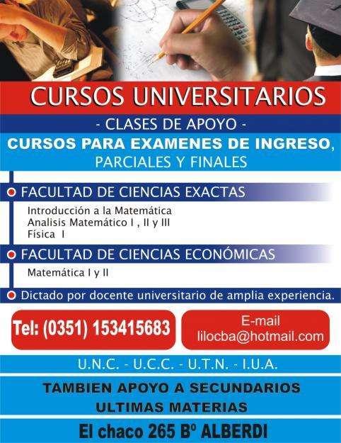 CLASES DE APOYO EN MATEMATICA FISICA QUIMICA